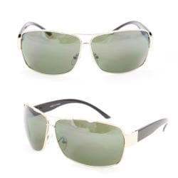 Men's F1869 Silver Metal Square Sunglasses