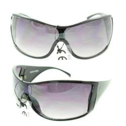 Men's P1317 Black Plastic Sport Sunglasses