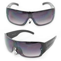 Men's P1490 Black Plastic Wrap Sunglasses