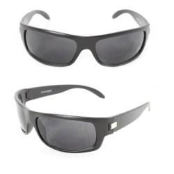 Men's 399 Black Matte Plastic Wrap Sunglasses