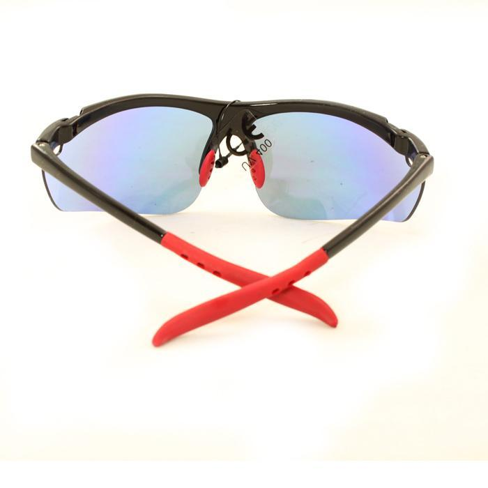 Men's PS80261 Black Plastic Wrap Sunglasses