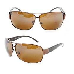 Men's F1869 Copper Metal Square Sunglasses