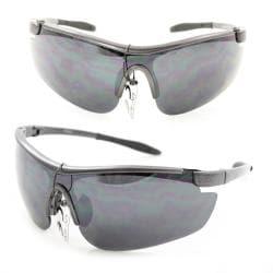 Men's PS80261 Black Plastic Wrap Sunglasses with UV400 Protection