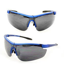 Men's PS80261 Blue Plastic Wrap Sunglasses