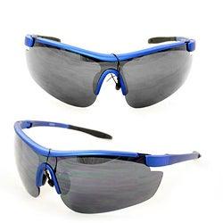 Men's PS80261 Blue Plastic Wrap Sunglasses