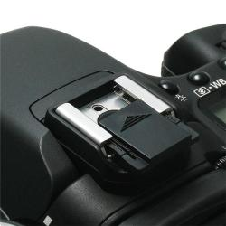 Black Camera Flashlight Hot Shoe Cover