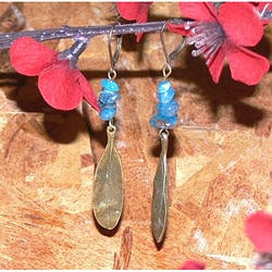 Susen Foster 'Blue Blossoms' Apatite Earrings