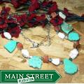 Susen Foster Silverplated 'True Heart' Turquoise/ Carnelian Necklace