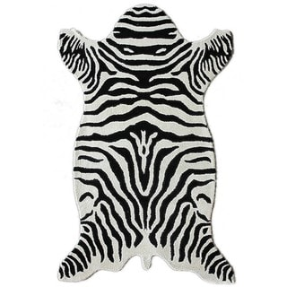 nuLOOM Hand-tufted Animal Shape Zebra Wool Rug (4' x 6')