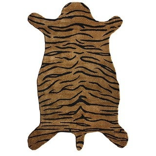 nuLOOM Hand-tufted Animal Shape Tiger Wool Rug (5' x 8')