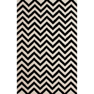 nuLOOM Hand-tufted Spectrum Chevron Wool Rug (7'6 x 9'6')