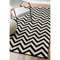 Hand-tufted Alexa Spectrum Chevron Wool Rug (5&#39; x 8&#39;)