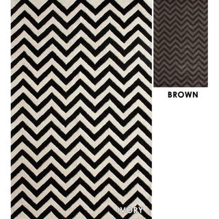 nuLOOM Hand-tufted Spectrum Chevron Wool Rug (5' x 8')