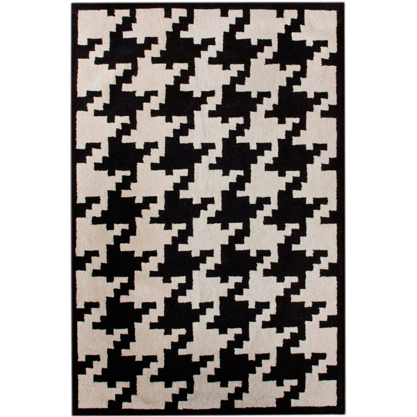nuLOOM Hand-tufted Spectrum Houndstooth Wool Rug (5' x 8')