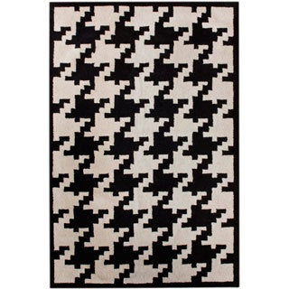 nuLOOM Hand-tufted Spectrum Houndstooth Wool Rug (7'6 x 9'6)