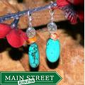 Susen Foster Silverplated 'Alpine Meadow' Turquoise/ Variscite Earrings