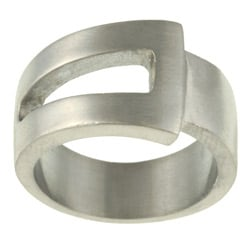 Stainless Steel Accent Style Men's Ring