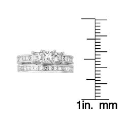 14k Gold 2ct TDW Princess Diamond Bridal Ring Set (H-I, I1-I2)
