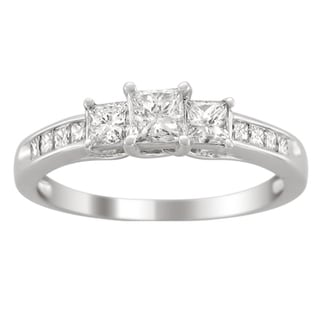 14k Gold 1ct TDW Princess-cut Diamond Engagement Ring (H-I,I1-I2)