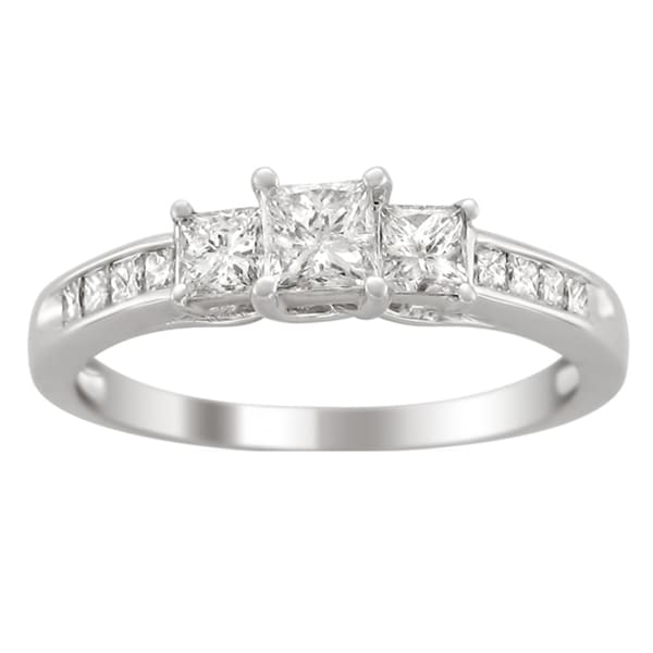 14k Gold 1ct TDW Princess-cut Diamond Engagement Ring (H-I,I1-I2)