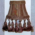 Brown Tapestry Silk Shade Nightlights (Set of 2)