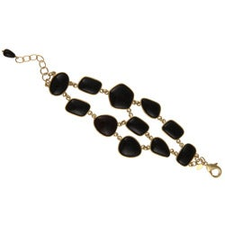 Rivka Friedman 18k Goldplated Black Pebble Bracelet
