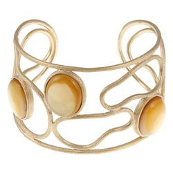 Rivka Friedman 18k Goldplated Mother of Pearl Cuff Bracelet