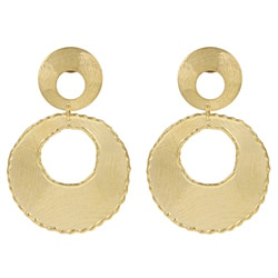Rivka Friedman 18k Goldplated Round Dangle Earrings