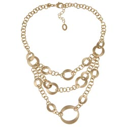 Rivka Friedman Goldtone Cascading Link Bib Necklace