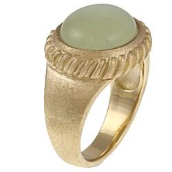 Rivka Friedman 18k Goldplated Jade Ring