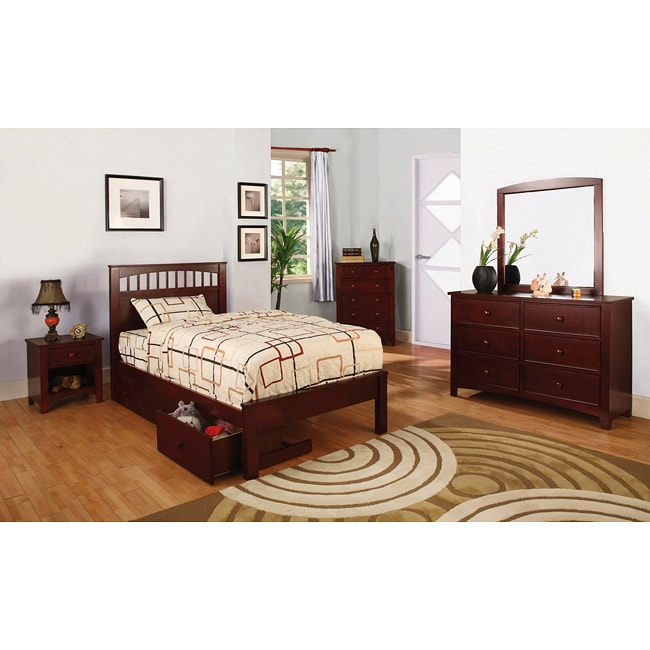 Furniture of america gavin full size platform bed set for Full size bed furniture sets