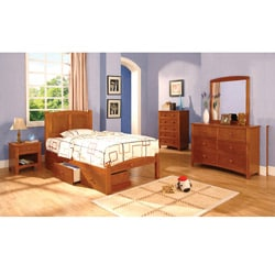 Lancaster Full-size Bed/ Underbed Drawers/ Night Stand Set
