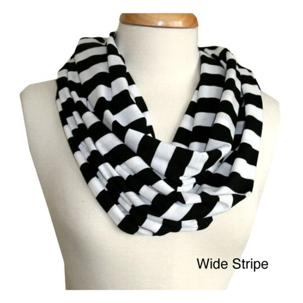 black and white stripe infinity scarf 13650747