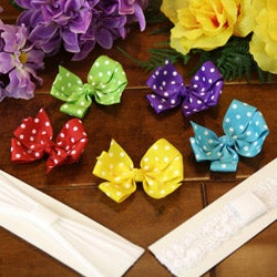 Colorful 7-piece Headband and Bow Set
