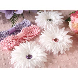 Colorful 5-piece Rhinestone Daisy Headbands Set