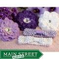 Lavender Rhinestone Daisy 5-piece Headbands Set