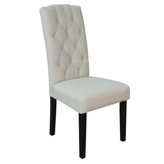 Princeton Upholstered Linen Dining Chairs (Set of 2)