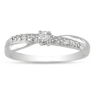 10k White Gold Diamond Accent Promise Ring
