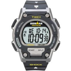 Timex Men's T5K195 Ironman Classic Shock 30-Lap Black/Yellow Watch