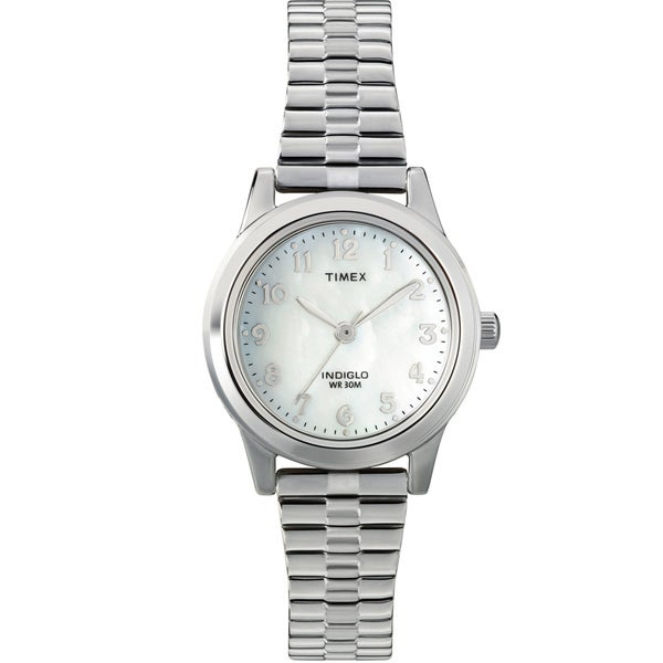 Timex Women's T2M826 Elevated Classics Dress Stainless Steel Expansion Band Watch