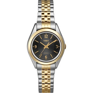 Timex Women's T2N320 Elevated Classics Dress Stainless Steel Expansion Watch
