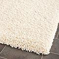 Cozy Solid Ivory Shag Rug (5'3 x 7'6)