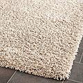 Cozy Beige Shag Rug (5'3 x 7'6)
