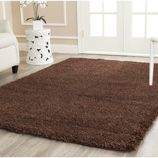 Safavieh California Cozy Solid Brown Shag Rug (4' x 6')