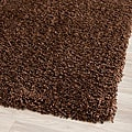 Cozy Solid Brown Shag Rug (8' x 10')