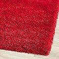 Cozy Solid Red Shag Rug (5'3 x 7'6)