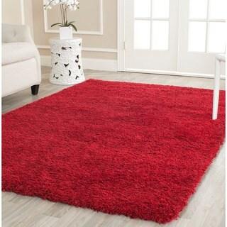 Cozy Solid Red Shag Rug (8' x 10')
