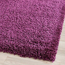 Cozy Solid Purple Shag Rug (4' x 6')
