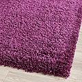 Cozy Solid Purple Shag Rug (4' x 6')