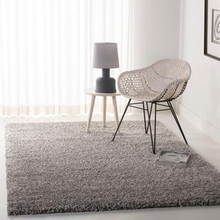 Cozy Solid Silver Shag Rug (5'3 x 7'6)